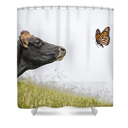 The Visitor  Shower Curtain by Sheila Smart Fine Art Photography
