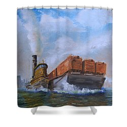 The Vital Link Shower Curtain by Christopher Jenkins