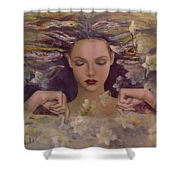 The Voice Of The Thoughts Shower Curtain by Dorina  Costras