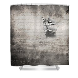 The Voyage Shower Curtain by Edward Fielding