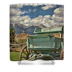 Shower Curtain featuring the photograph The Wagon by Peggy Hughes