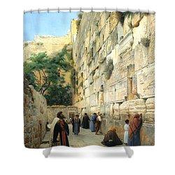 The Wailing Wall Jerusalem Shower Curtain