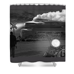 The Wait - Panoramic Shower Curtain