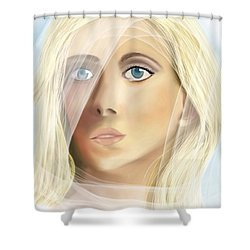 The Waiting Bride Shower Curtain