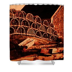 The Waiting Traps Shower Curtain by Lydia Holly