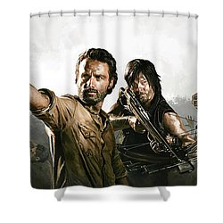 The Walking Dead Artwork 1 Shower Curtain