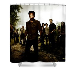 The Walking Dead Shower Curtain