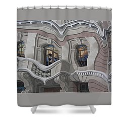 Shower Curtain featuring the photograph The Walls Are Coming Down by Natalie Ortiz