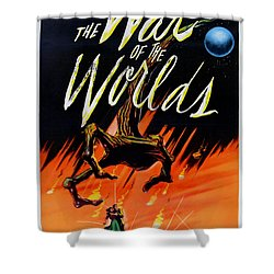 The War Of The Worlds Shower Curtain by Georgia Fowler