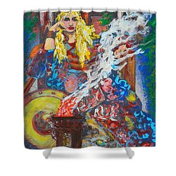 The Warrior Queen Shower Curtain