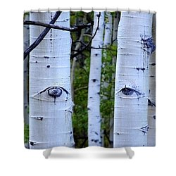 The Watcher Shower Curtain by Lanita Williams