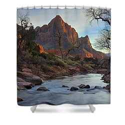The Watchman In Winter-2 Shower Curtain