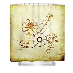 The Watchmans Flower Shower Curtain by Fran Riley
