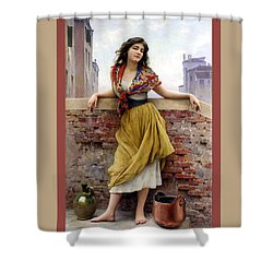 The Water Carrier Poster Shower Curtain by Eugene de Blaas