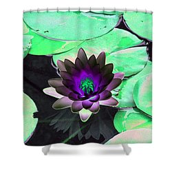 The Water Lilies Collection - Photopower 1113 Shower Curtain by Pamela Critchlow