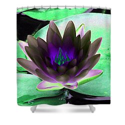 Shower Curtain featuring the photograph The Water Lilies Collection - Photopower 1116 by Pamela Critchlow