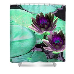Shower Curtain featuring the photograph The Water Lilies Collection - Photopower 1118 by Pamela Critchlow
