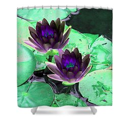 Shower Curtain featuring the photograph The Water Lilies Collection - Photopower 1119 by Pamela Critchlow