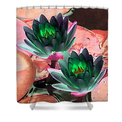 Shower Curtain featuring the photograph The Water Lilies Collection - Photopower 1120 by Pamela Critchlow