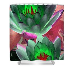 Shower Curtain featuring the photograph The Water Lilies Collection - Photopower 1121 by Pamela Critchlow