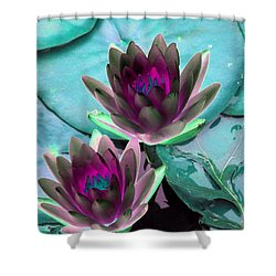 Shower Curtain featuring the photograph The Water Lilies Collection - Photopower 1124 by Pamela Critchlow