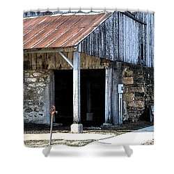 The Water Pump Shower Curtain by Kirt Tisdale