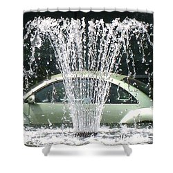 Shower Curtain featuring the photograph The  Waterbug by John King