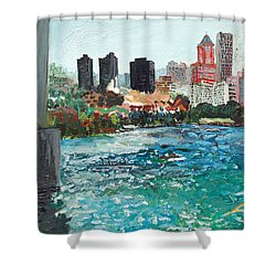 The Waterfront Shower Curtain by Joseph Demaree