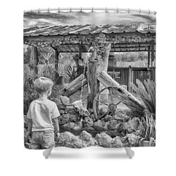 Shower Curtain featuring the photograph The Watering Hole by Howard Salmon