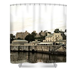 The Waterworks Shower Curtain by Bill Cannon