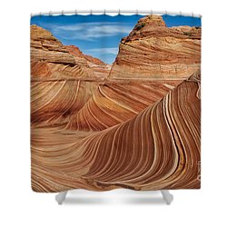 The  Wave Shower Curtain by Jerry Fornarotto