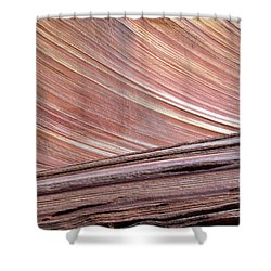 Shower Curtain featuring the photograph 'the Wave' North Coyote Buttes 02 by Jeff Brunton