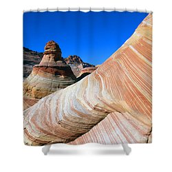 'the Wave' North Coyote Buttes 10 Shower Curtain by Jeff Brunton