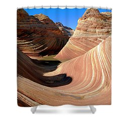 Shower Curtain featuring the photograph 'the Wave' North Coyote Buttes 19 by Jeff Brunton