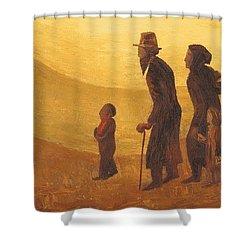 The Way - Aliyah Shower Curtain by Israel Tsvaygenbaum