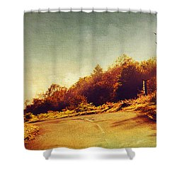 The Way Down. Trossachs National Park. Scotland Shower Curtain by Jenny Rainbow