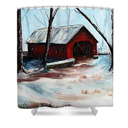 Shower Curtain featuring the painting The Way Home by Meaghan Troup