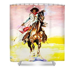The Way Of The Vaquero Shower Curtain