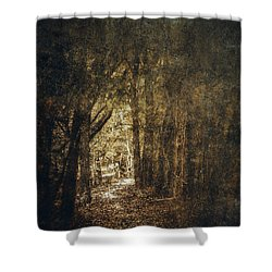 The Way Out Shower Curtain by Scott Norris