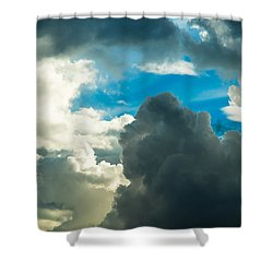 The Weather Is Changing Shower Curtain by Alexander Senin