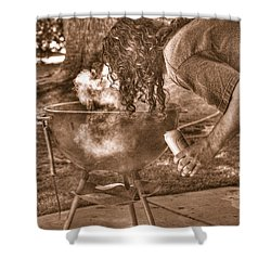 The Weber Whisperer Shower Curtain by Joe Schofield