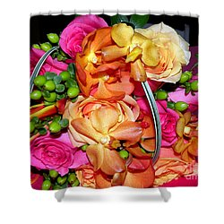 The Wedding Flowers Shower Curtain by Kathy  White