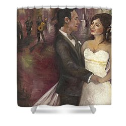 The Wedding Shower Curtain