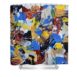 Shower Curtain featuring the painting The Weekend by Heidi Smith