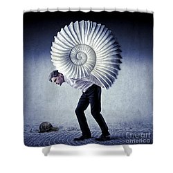 The Weight Of Life Shower Curtain