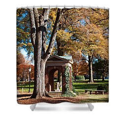 The Well - Davidson College Shower Curtain
