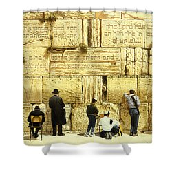 The Western Wall  Jerusalem Shower Curtain by Graham Braddock