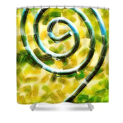 The Wet Whirl  Shower Curtain by Steve Taylor