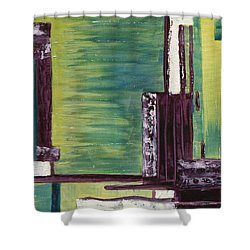 The Wharf Shower Curtain by Susan Sadoury