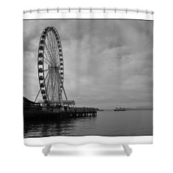 The Wheel And The Ferry Shower Curtain by Kirt Tisdale